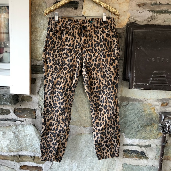 Style+Co Brown/Black Leopard Skinny Jeans, 12P